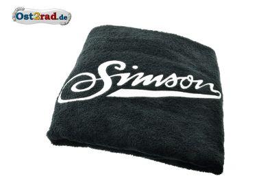 Badehandtuch 100x150cm schwarz mit SIMSON Schriftzug