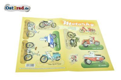 Bastelbogen JAWA und CZ Motorräder
