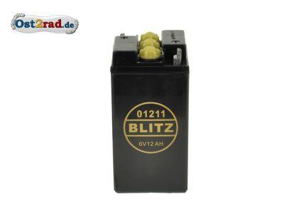 Batterie 6 V 12A passend für MZ SIMSON IWL Oldtimer (Preis zuzügl. Batteriepfand 7,50 ¤)