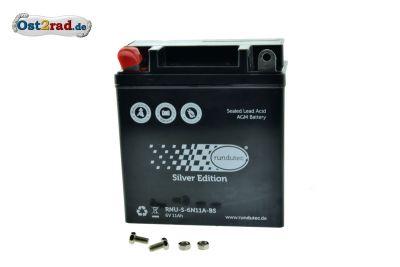 Batterie 6V 11Ah AGM Gel für MZ und Simson, wartungsfrei