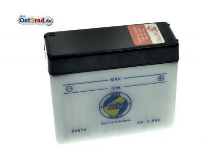 Batterie 6V 4,5A Simson Schwalbe KR51 1-2 (Preis zuzügl. Batteriepfand 7,50 ¤)