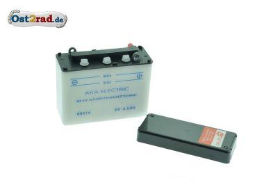 Batterie 6V 4,5A Simson Schwalbe KR51 1-2 ohne Säure (Preis zuzügl. Batteriepfand 7,50 €)