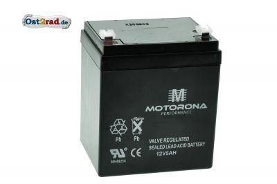 Blei-Gel-Batterie 12V 5Ah passend für Simson, Jawa und MZ