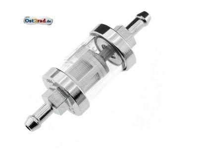 Benzinfilter - massive Metallausführung - Außendurchmesser: 28 mm, ø6 mm-Anschluss - Mokick
