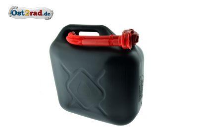 Benzinkanister Kunststoff 10l schwarz mit UN-Zulassung