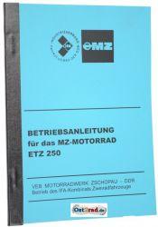 Handbook MZ motorcycle ETZ250
