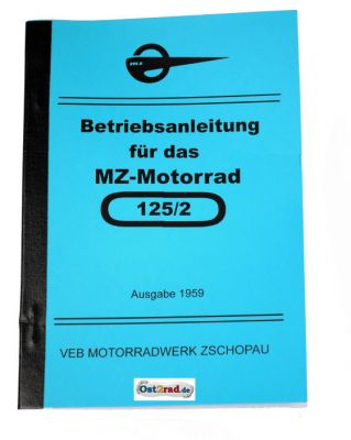 Guide book MZ motorcycle RT125 /2