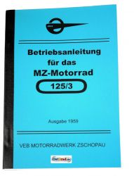 Guide book MZ motorcycle RT125 /3