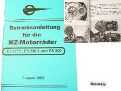 Manual MZ ES 175 / 1, 250 / 1 and ES 300