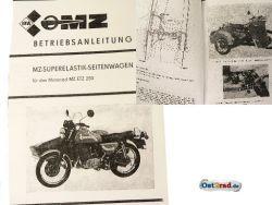 Manual MZ ETZ 250 sidecar for superelastic