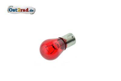Ampoule 12V 21W BA15r rouge