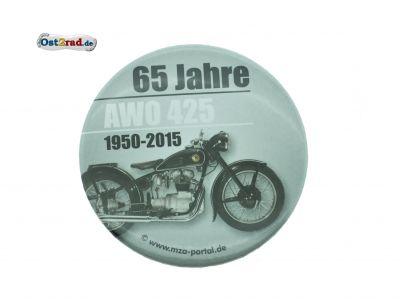 Blechbutton 65 Jahre AWO 425 1950-2015
