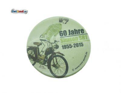 Blechbutton 60 Jahre Simson SR1 1955-2015