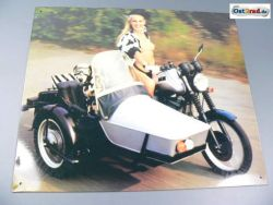 Tin Sign MZ ETZ Sidecar