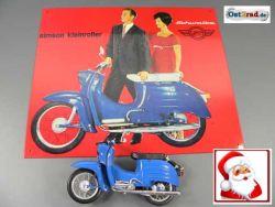 Blechschild Schwalbe blau + Schwalbemodell blau