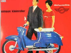 Tin Sign Simson Schwalbe KR51 / 1 blue