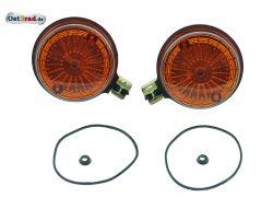 Blinker Paar hinten passend für MZ TS ETZ Simson S51 S50 mit Prüfzeichen