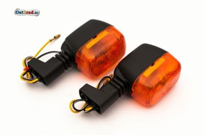 Blinker Paar SR50 S53 schwarz-orange