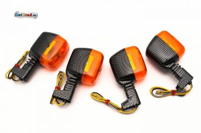 Blinker Satz SR50 S53 carbon-orange