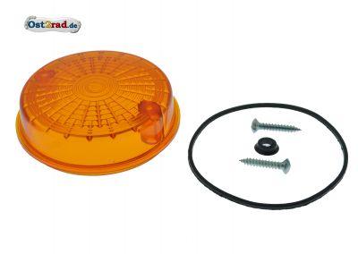 Blinkerkappe rund hinten passend für MZ SIMSON orange