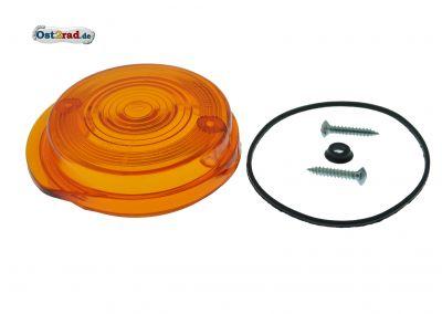 Blinkerkappe rund vorn passend für MZ SIMSON orange