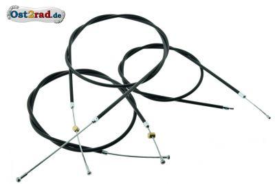 Bowdenzugsatz SIMSON AWO Sport ohne Stellschraube schwarz