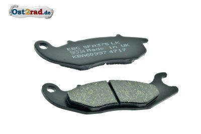 Bremsbeläge PAAR für 2-Kolben-Bremssattel Simson S53 SR50