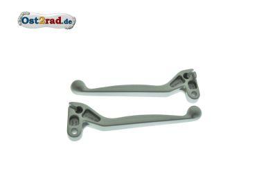 Brake lever, clutch lever SIMSON S51, SR50, silver
