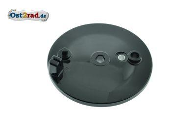 Bremsschild SCHWARZ hinten mit Bohrung für Bremslicht S50 SR4-3 SR4-4 SR50 X-Modelle