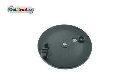 Bremsschild SCHWARZ matt hinten mit Bohrung für Bremslicht und f. außenliegenden Bremshebel S50 SR4-3 SR4-4 SR50 X-Modelle