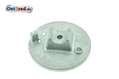 Bremsschild vorn natur mit Bolzen Simson SRA25 SRA50 MSA50
