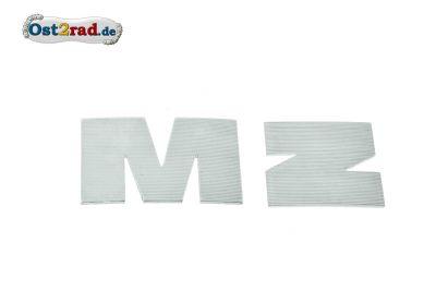 Lettre M et Z gris aluminium MZ ETZ 125 150 251
