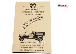 Ersatzteileliste Cezeta Dreirad Typ CZ 505 175 ccm