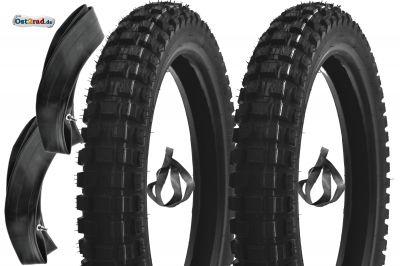2x SET Cross Reifen für Simson S50 S51 PneuRubber XTreme, 2,75-16 reinforced 150km/h