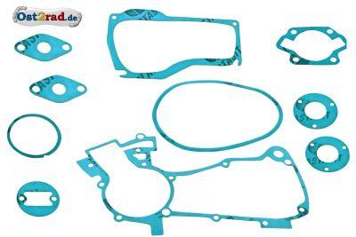 Dichtsatz für Simson SR1 SR2 SR4 und KR50 10-teilig Plastasit blau