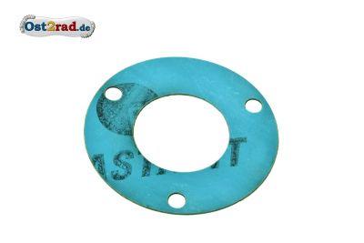 Dichtung zur Dichtkappe für Abtriebswelle und Kurbelwelle Motor Simson SR1 SR2 KR50 Spatz Plastasit blau