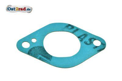 Dichtung zum Ansaugstutzen passend für MZ ES 175, 250/0, 300 Plastasit blau