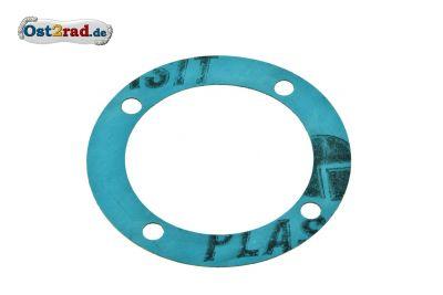 Dichtung für Dichtkappe unter Lichtmaschine für MZ TS 125 , 150  ETZ 125 , 150 Plastasit blau