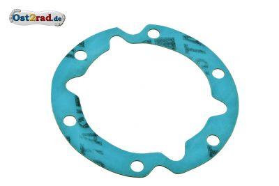 Dichtung für Dichtkappe unter der Lichtmaschine , Kurbelgehäuse für MZ 250 ccm 4. Gang Motoren ES 175 / 250 , ETS 250 und TS 250/0 Plastasit blau