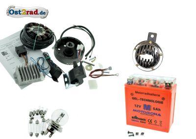 Elektronische Zündung Umrüstsatz komplett Powerdynamo/Vape 12V ES 125 150