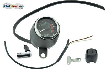 Elektronischer Drehzahlmesser 60mm für Simson S50 S51 mit 12V Vape CHROM