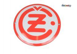 Emailleschild CZ Logo rund weiß 120mm