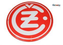 Emailleschild CZ Logo rund rot 220mm