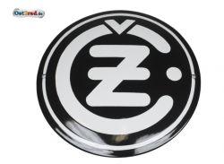 Emailleschild CZ Logo rund schwarz 220mm
