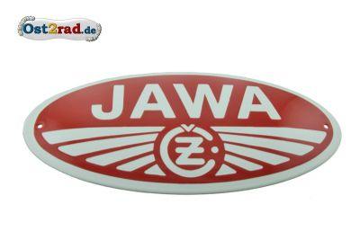 Enamel sign Jawa and CZ