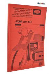 Ersatzteilkatalog JAWA 350 Typ 634 in 6 Sprachen