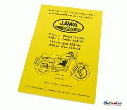 Ersatzteilkatalog Jawa 250 350 Typ 353 354 /04 deutsch