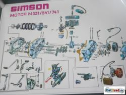 Exploded engine SIMSON S51, S70