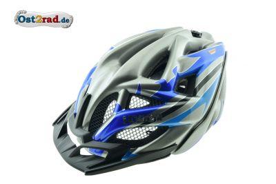 Casque vélo VTT Levior anthracite-bleu