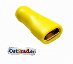Spade connector 6.3 mm insulated, yellow